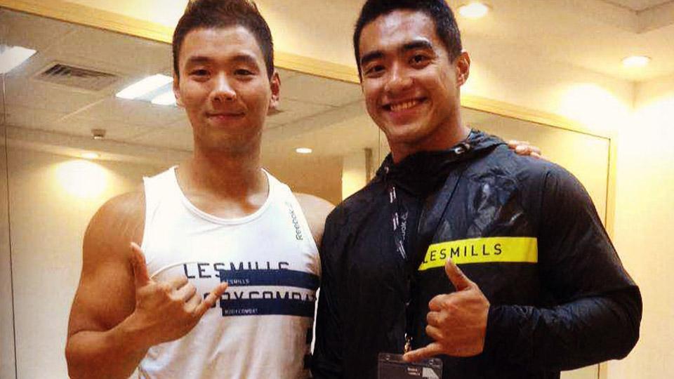 Junwei Li with Reagan Kang